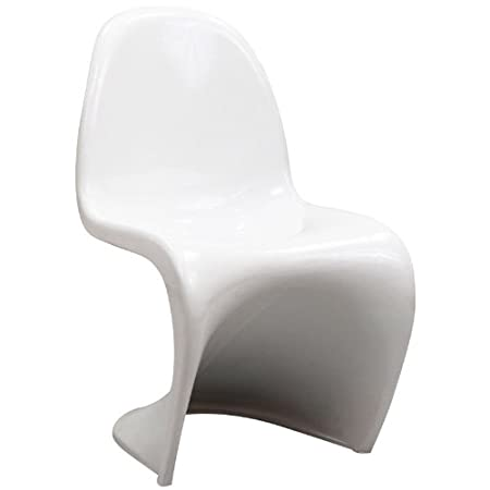 Bon Verner Panton S Shaped Kids Slither Dining Chair White