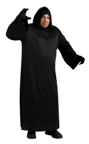 Rubie's Black Hooded Robe, Black, Adult Full Figure Costume -