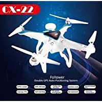 Cheerson CX22 CX - 22 Follower 5.8GHz FPV1080P Camera Dual GPS RC Quadcopter Brushless Gimbal 3D Flip UFO RTF - WHITE AND BLUE