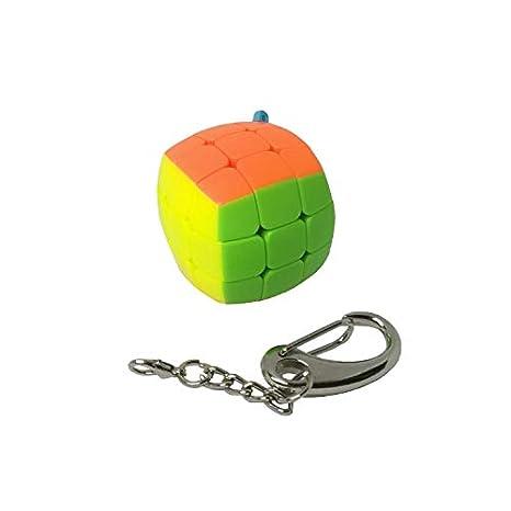 Llavero cubo pillow 3x3 stickerless con mosquetón: Amazon.es: Deportes y aire libre