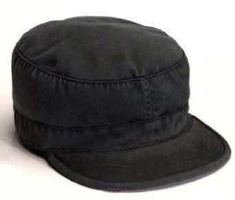 4503Black vintage fatigue cap (Medium)
