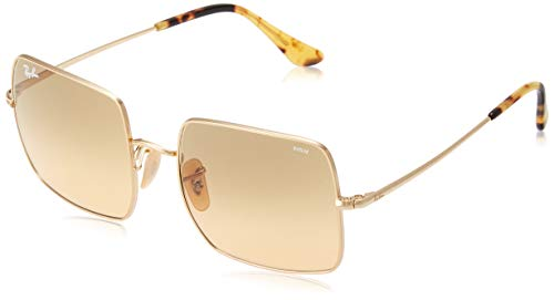 Ray-Ban RB1971 Square Evolve Photochromic Metal Sunglasses, Gold/Photochromic Orange Gradient, 54 mm ()