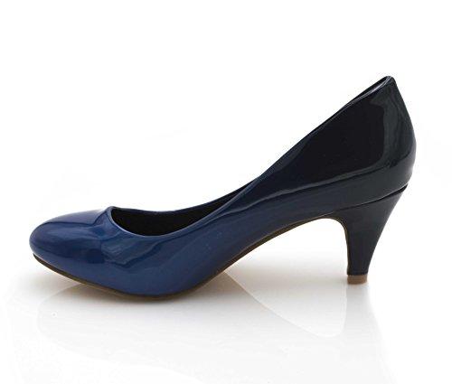de Azul Charol Vestir Shoes Zapatos Negro Mujer Fashion de w1XE0Fqx