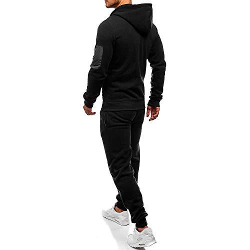 Noir Automne Costume Top Hommes Sport Survêtement Patchwork Kobay Sweat Ensembles Pantalons Hiver 6aPUqg