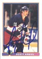 Scott Arniel Winnipeg Jets 1991 Bowman Autographed Card. This item comes with a certificate of authenticity from Autograph-Sports. Autographed