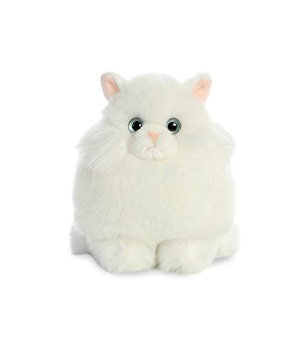 Aurora World Fat Cats Plush Toy Animal, Marshmallow Persian, 7