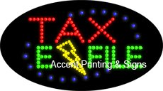 Tax E-File Flashing LED Sign (High Impact, Energy Efficient)