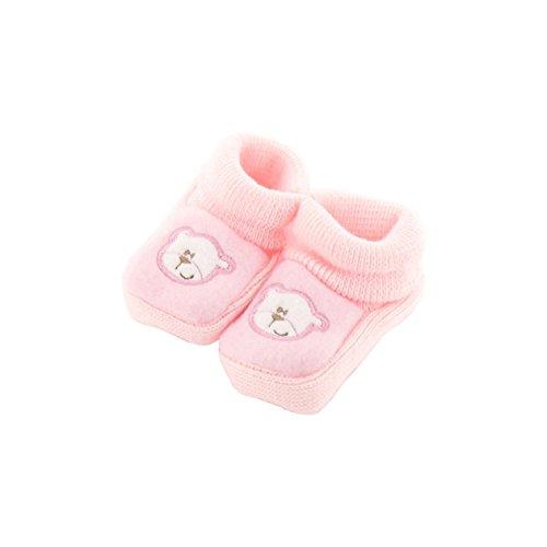 zapatitos de bebé de color rosa 0-3 meses - Papa osos Pattern