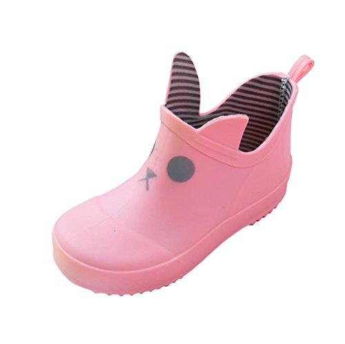 Designer Dog Boots (FEITONG Infant Kids Child Cartoon Cute Print Striped Rubber Rain Waterproof Boots Rain Shoes)
