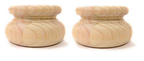 Highland Manor Wood Products Set of 2 Westover Bun Foot (Pine) - 2 1/2