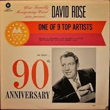 Your Friendly Montgomery Ward Store Presents David Rose on their 90th Anniversary - Red Vinyl [LP record - Stores Montgomery Mall