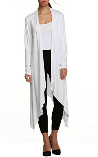 Meaneor Women's Long Sleeve Waterfall As - Cotton Long Cardigan Shopping Results