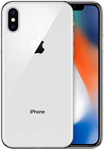 Apple iPhone X, 64GB, Silver - For T-Mobile (Renewed)