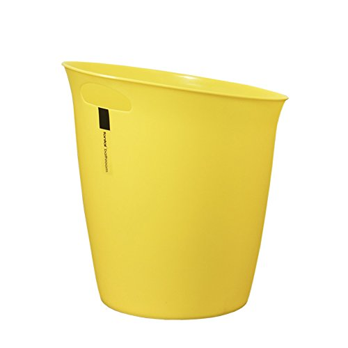 Hflove Plastic Trash Can Hand-held Trash Can Kitchen Trash Can,5.5L(Yellow) (Yellow Trash Can For Bedroom)