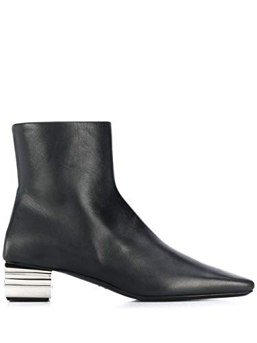 Balenciaga Luxury Fashion Woman 590984WA8F31081 Black Leather Ankle Boots | Fall Winter 19