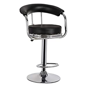 MBTC Magma Bar Stool Chair in Black
