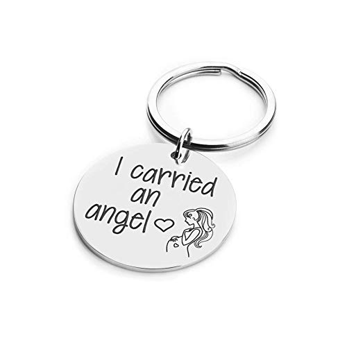 - Miscarriage Memorial Sympathy Mom to Be Gift I Carried an Angel Remembrance Memorial Jewelry Tribute to Angel in Heaven Infant Loss Keepsake