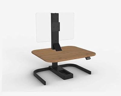 Standing Desk - Evodesk XE - Adjustable Desk - Push Button Height Adjustable Ergonomic Desk (Medium Bamboo Black Frame)