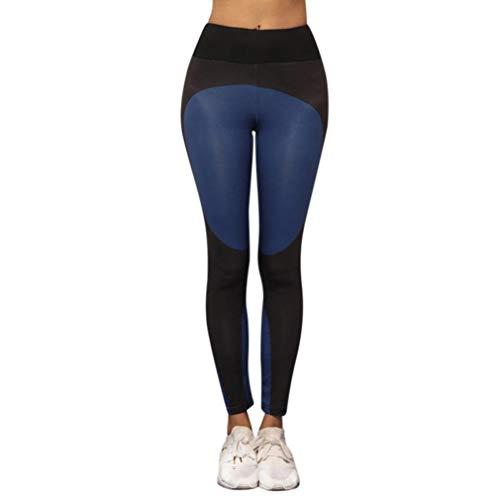 Sport Wild da Quality Blau Pantaloni taglia colore Moda Fitness Colore Tight M Stampato Yoga Patchwork Accogliente Sport donna Palestra da donna Cappotto Super IRxUPRZq