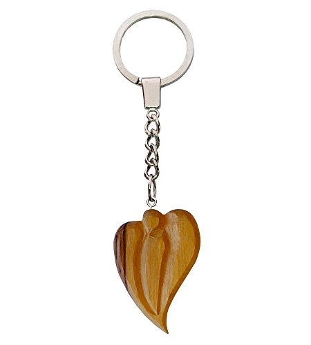 Olive Wood Tao Tau Finger Rosary Keyring Key Ring Chain Prayer Beads