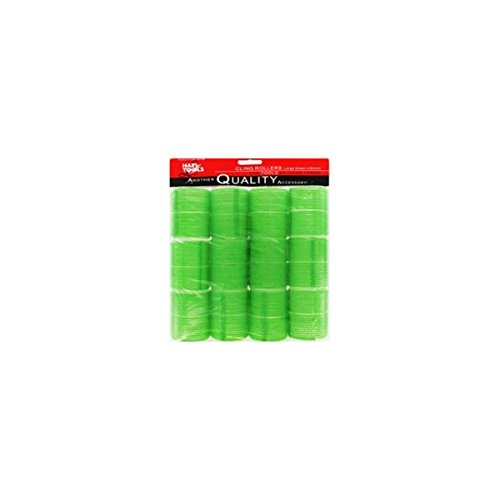 Hair Tools Cling Hair Rollers - Large Green 48 mm x 12