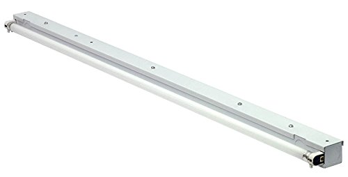 LS5 - White Fluorescent Low Profile Side Mount Strip Light Fixture - Light Side Mount Fluorescent Strip