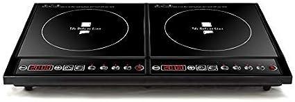 Placa de inducción, Incorporado Horno eléctrico 2 Zonas de Estufa de sensores táctiles Controles de Cocina de inducción Temporizador ZHNGHENG