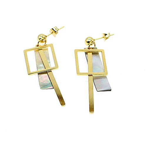 Geometric Hollow Square Earring Metal Simple Drop Dangle Earring Plating Gold Bohemian Dangling Costume Earring For Women Girl Bar Party Fashion Jewelry (Hollow square)