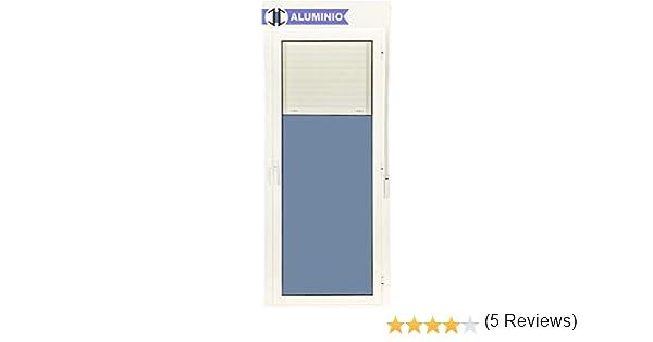 Puerta Balconera Aluminio Practicable Derecha Con Persiana PVC 880 ...