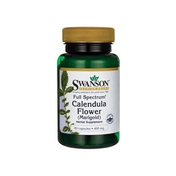 Swanson Full Spectrum Calendula Flower (Marigold) 400 Milligrams 60 Capsules
