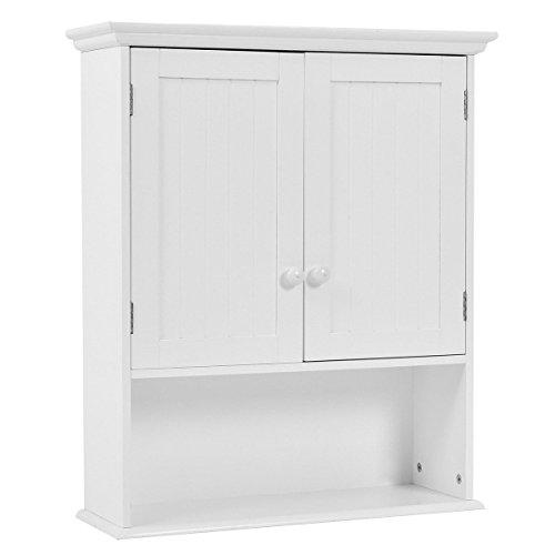Wall Mount Cabinet Storage White Organizer Medicine Cabinet Kitchen Laundry Bathroom New Ceiling Fixture Dark Spice