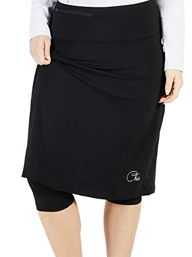 Chic Extreme Comfort Athletic Skirt (with Attached Leggings) (Black, 14) -
