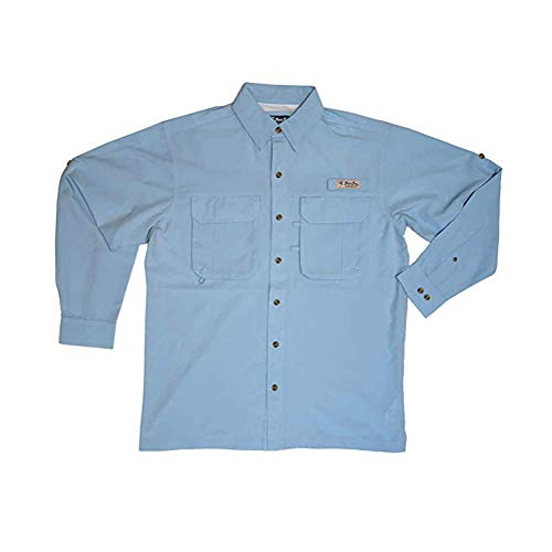 Bimini Bay Outfitters Men's Flats IV Long Sleeved Shirt, Blue Mist, - Mist Bay