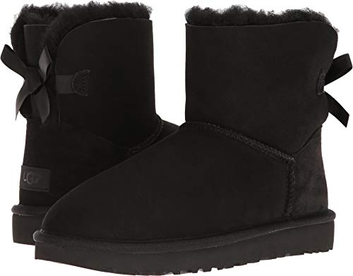 Used, UGG Women's Mini Bailey Bow II Winter Boot, Black, for sale  Delivered anywhere in USA