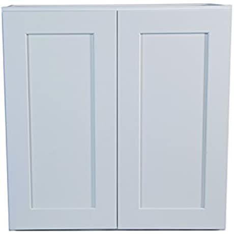 Design House 613398 Brookings 30 Fully Assembled Kitchen Wall Cabinet White Shaker