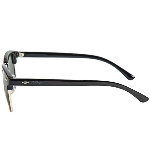 802a505689 ... Dollger Classic Polarized Clubmaster Sunglasses Horn Rimmed Half Frame  … Resin Arm+crystal Green Lens ...