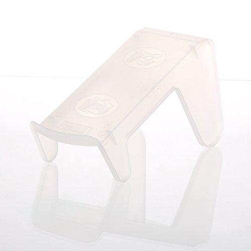 YBM HOME Ybmhome Plastic Double Layer Storage Free Standing Shoe Stand Rack Holder Stacker Shelf Closet Organizer Space Saver 2161 (1, Frosty White)