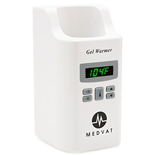 Gel Bottle Warmer by MEDVAT | Good for Bottles of Ultrasound Gel, Massage Oils and Massage Lotions, Top Quality, Experience Deeper Relaxation and Comfort  Built in Timer