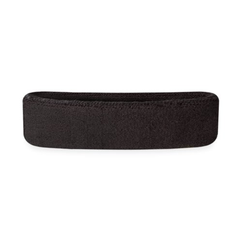 Suddora Kids Headband - Soft Terry Cloth Sports Head Sweatband for Youth Basketball, Soccer and More (Black)]()
