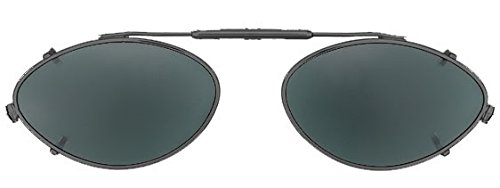 Visionaries Clip on Sunglasses - Cateye Shape - Polarized Grey/black Frame - 51mm Wide X 31mm - Eyewear Axis