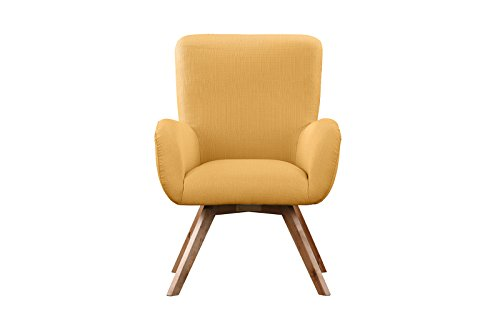 Mid-Century Modern Living Room Chair / Accent Armchair (Yellow)