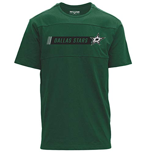 - Levelwear NHL Dallas Stars Mens Disrupt Hybrid Stripe Tee, Rider Green, Large