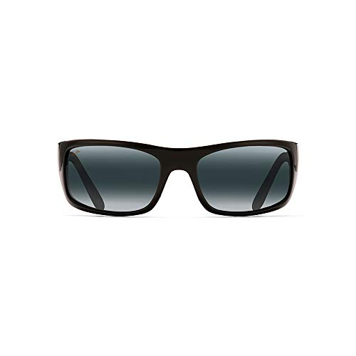 - Maui Jim Peahi 202-02 | Polarized Rectangular Sunglasses, Gloss Black, with Patented PolarizedPlus2 Lens Technology