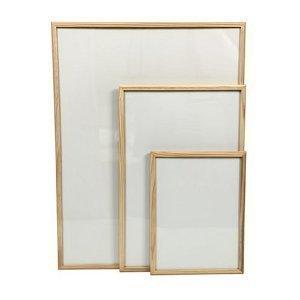 32 x 24 wooden framed magnetic dry wipe whiteboard