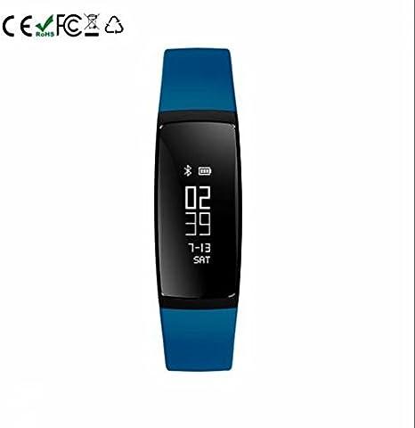 Fitness Tracker Smart Watch ergonómico diseño, unidad Sport Armband, niña Smartwatch Armband, Sleep Health Tracking, pantalla OLED para iPhone Android Sumsung HTC Smartphone, azul: Amazon.es: Deportes y aire libre