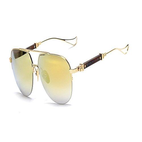 UV anti de sol de sol metal sol 6 gafas Dorado sapo de gafas Shop Gafas de Gafas xqCFcZ6