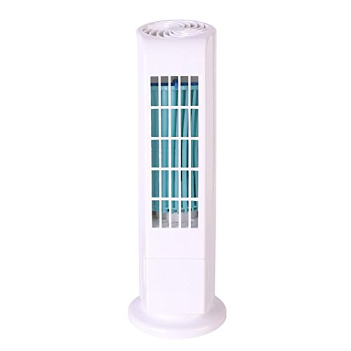 Chezaa Mini Air Conditioner Fan, Portable Purifier Tower Bladeless Desk Fan (white) by Chezaa