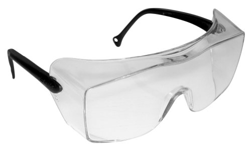 3M OX Protective Eyewear 2000, 12163-00000-20 Clear Anti-Fog Lens, Black Secure Grip Temple (Pack of 20)