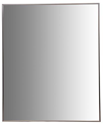 Nielsen Bainbridge 24x30 Rectangular Aluminum Wall Mirror | Vanity Mirror, Bedroom or Bathroom | Hangs Horizontal or Vertical | Bronze Gold Anodized Mirror