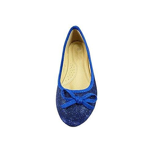 382d24dcb4acc cheap Ballerines en toile et brillante à noeud chaussure femme